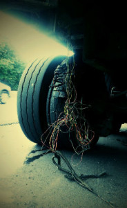 exploded tire 1